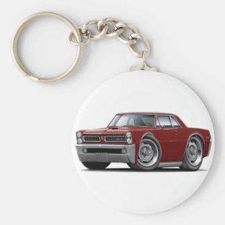Coche marrón de 1965 GTO Llavero Redondo Tipo Pin