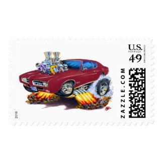 Coche marrón de 1969 GTO Timbre Postal