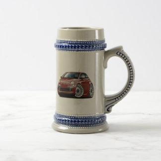 Coche marrón de Fiat 500 Tazas De Café