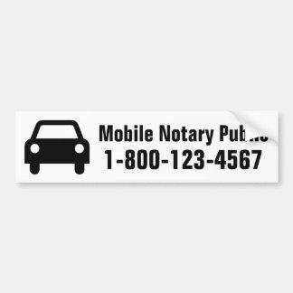 Coche móvil del notario público pegatina para auto