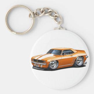 Coche Naranja-Blanco 1969 de Camaro Llavero Personalizado
