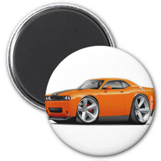 Coche Naranja-Negro del desafiador SRT8 Imán Redondo 5 Cm
