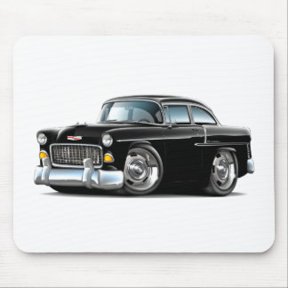Coche negro 1955 de Chevy Belair Tapetes De Ratones