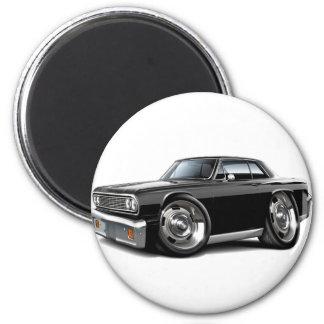 Coche negro 1964 de Chevelle Imán Redondo 5 Cm