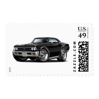 Coche negro 1966 de Chevelle Sellos