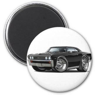 Coche negro 1967 de Chevelle Imán Redondo 5 Cm