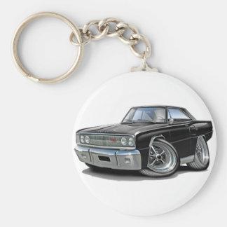 Coche negro 1967 del RT de la corona Llavero Redondo Tipo Pin