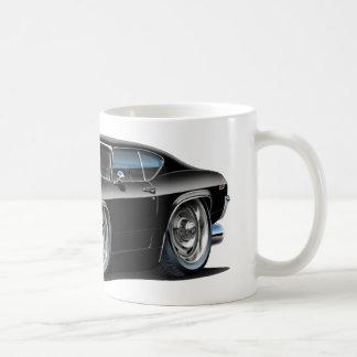 Coche negro 1968-69 de Chevelle Tazas De Café