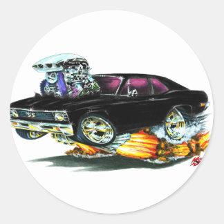 Coche negro 1968-70 de Nova Etiqueta Redonda