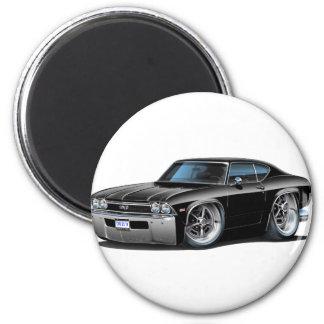 Coche negro 1968 de Chevelle Imán Redondo 5 Cm