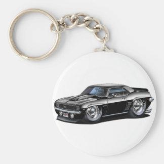 Coche negro 1969 de Camaro Llavero Redondo Tipo Pin