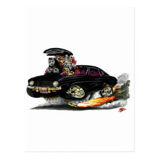 Coche negro 1969 de Camaro SS Tarjetas Postales
