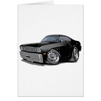 Coche negro 1970-74 del plumero tarjeta de felicitación