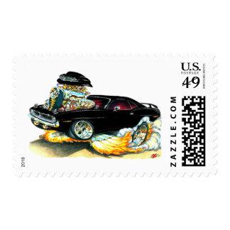 Coche negro 1970 de Plymouth Cuda Envio
