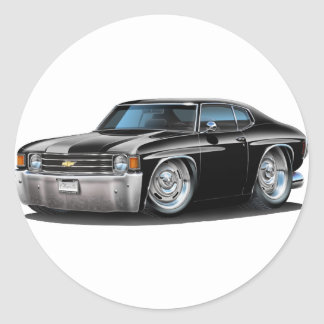 Coche negro 1971-72 de Chevelle Etiquetas