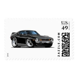 Coche negro 1971-72 de la jabalina sellos