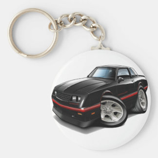 Coche negro 1983-88 de Monte Carlo Llavero Redondo Tipo Pin