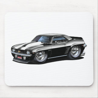 Coche Negro-Blanco 1969 de Camaro SS Tapetes De Ratones