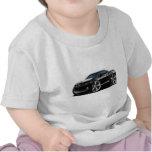Coche Negro-Blanco 2010-12 de Camaro Camisetas