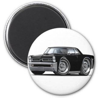 Coche negro de 1965 GTO Imán Redondo 5 Cm