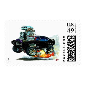 Coche negro de 1968 GTO Timbres Postales