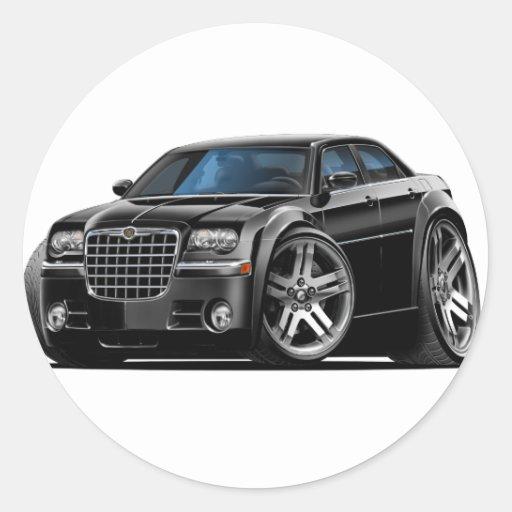 Coche negro de Chrysler 300 Pegatina Redonda