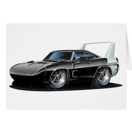 Coche negro de Dodge Daytona Tarjeta De Felicitación