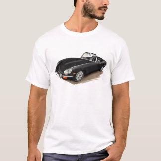 Coche negro de Jaguar XKE Playera