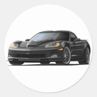 Coche negro del Corvette ZR1 Pegatinas