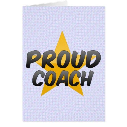 Coche orgulloso felicitación