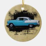 Coche-Ornamento 1955 de la obra clásica del Aire d Ornamentos De Navidad