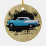 Coche-Ornamento 1955 de la obra clásica del Aire Ornamentos De Navidad