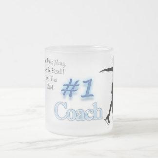 Coche patinador del número uno, gracias asaltar taza cristal mate