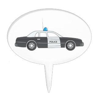 Coche patrulla de la policía del dibujo animado figuras para tartas