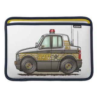 Coche patrulla del coche del sheriff funda para macbook air