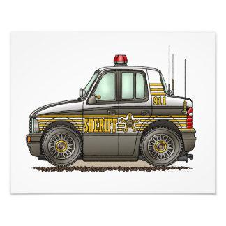 Coche patrulla del coche del sheriff fotografias