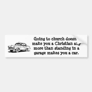 Coche, pegatina para el parachoques de la iglesia pegatina para auto