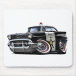 Coche policía 1957 de Chevy Belair Tapetes De Ratón