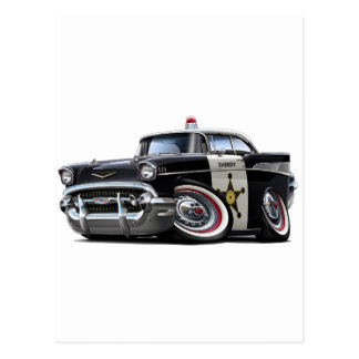Coche policía 1957 de Chevy Belair Postal