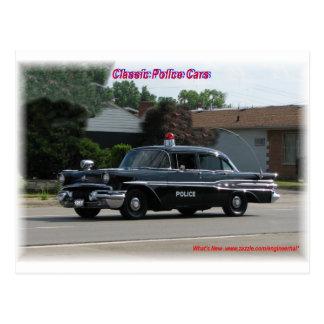 Coche policía 1957 de Pontiac Laurentian Tarjeta Postal
