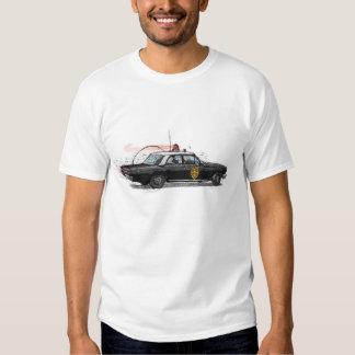 Coche policía americano clásico camisas