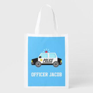 Coche policía clásico con la sirena para los niños bolsas de la compra