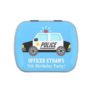 Coche policía clásico con la sirena para los niños jarrones de caramelos