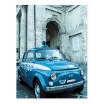 Coche policía de Fiat 500 en Italia Postal