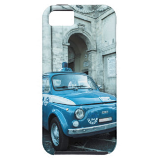 Coche policía de Fiat 500, retro en el caso de iPhone 5 Carcasa