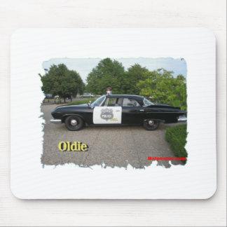Coche policía del Oldie Alfombrillas De Ratones