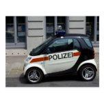 Coche policía elegante postal