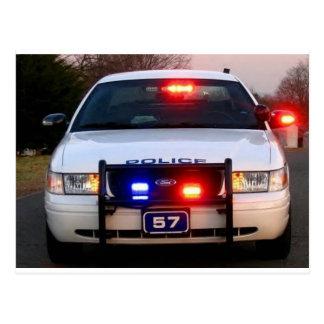 COCHE POLICÍA - encendido todo para arriba Tarjetas Postales