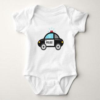 Coche policía lindo con la sirena body para bebé