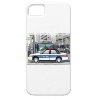 Coche policía orgulloso en la ciudad iPhone 5 carcasa